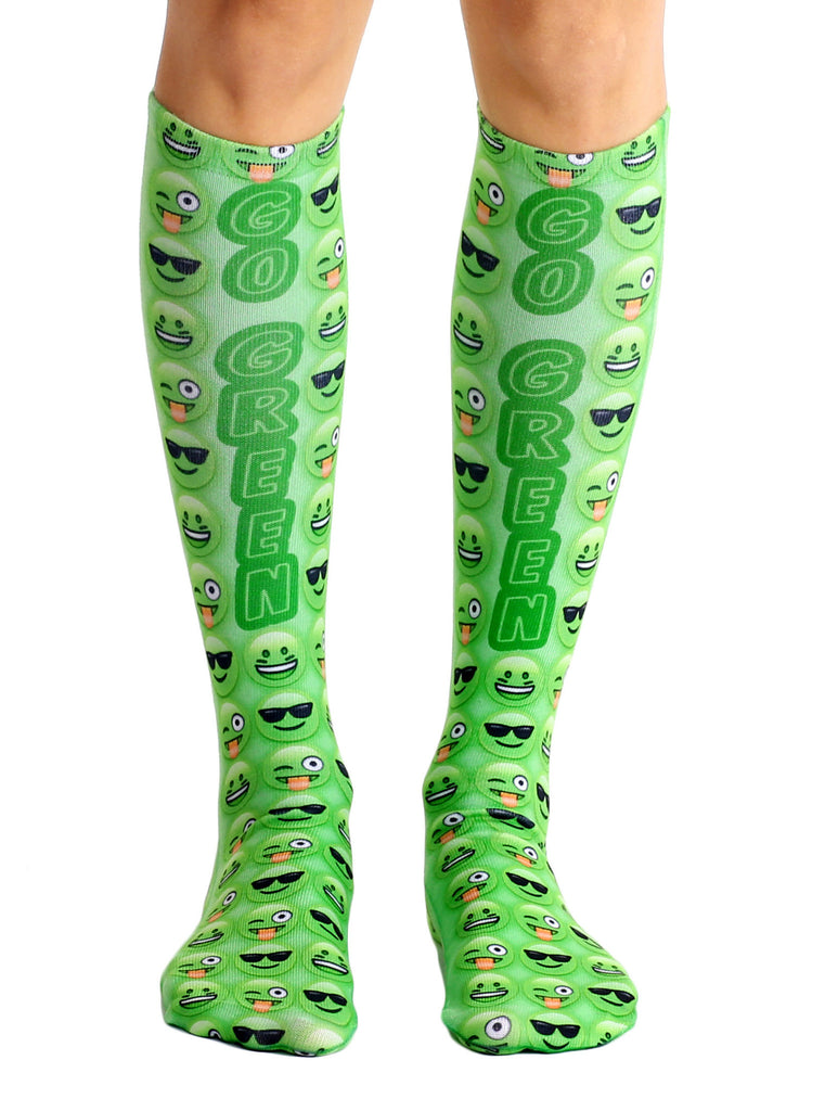 Green Knee High Socks