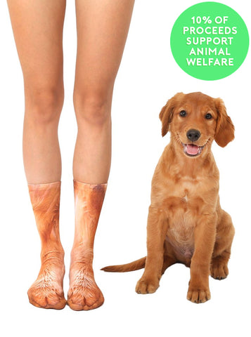 Golden Retriever Paws Crew Socks