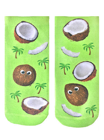 Googly Coconuts Ankle Socks