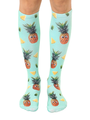 Googly Pineapples Knee High Socks