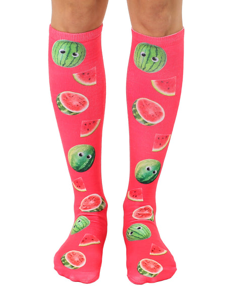 Googly Watermelons Knee High Socks