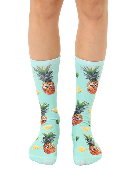 Googly Pineapples Crew Socks