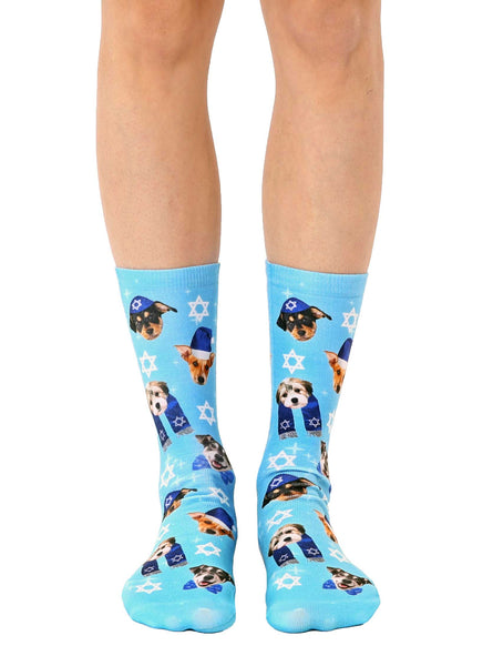 Hanukkah Puppies Crew Socks