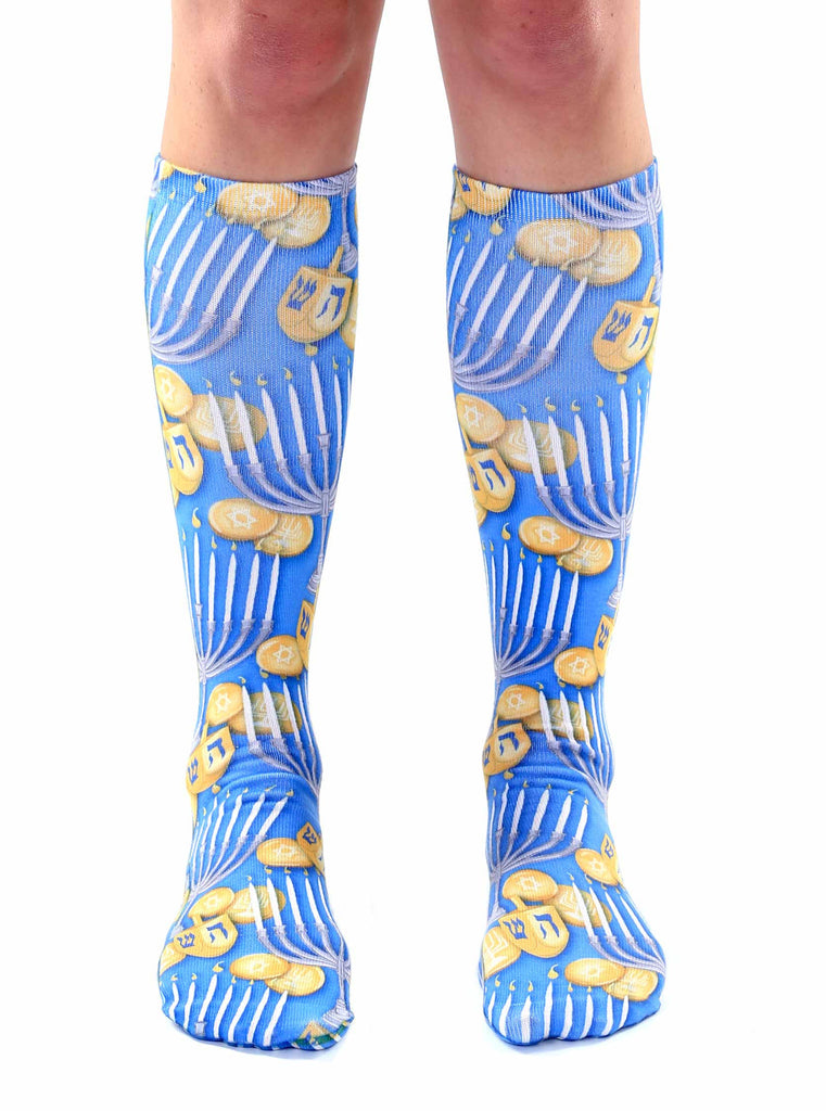 Hanukkah Knee High Socks