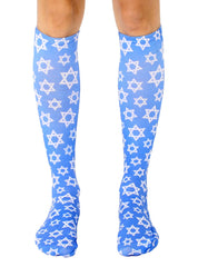Hanukkah Star Knee High Socks