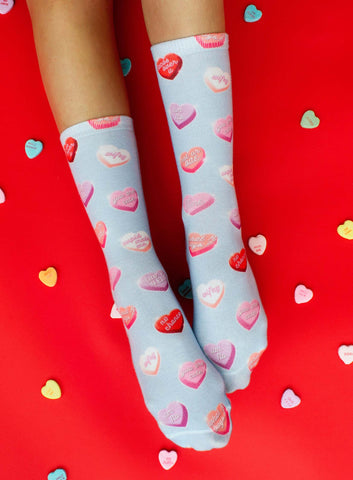 Heart Candies Crew Socks