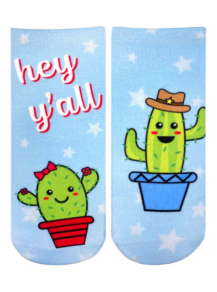 Cactus Ankle Socks from Living Royal Blue #255