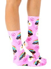 Hippie Dog Crew Socks
