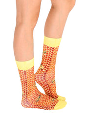 Honeycomb Crew Socks