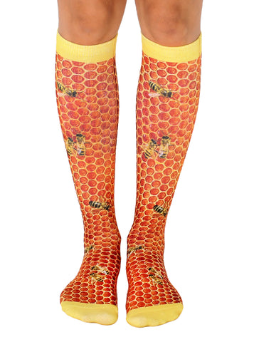 Honeycomb Knee High Socks