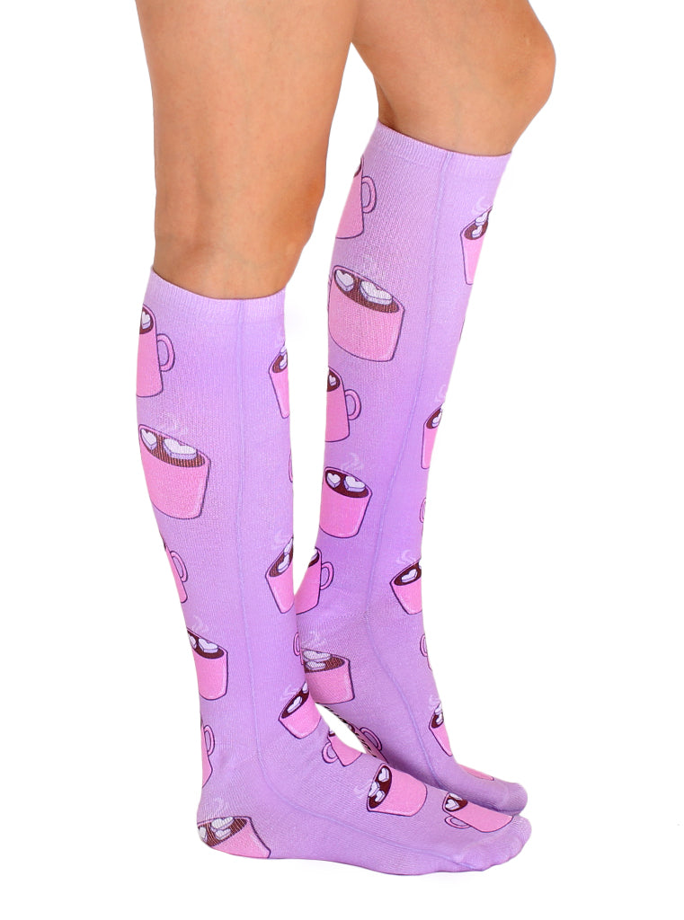 Hot Chocolate Knee High Socks