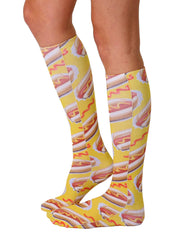 Hot Dog Knee High Socks