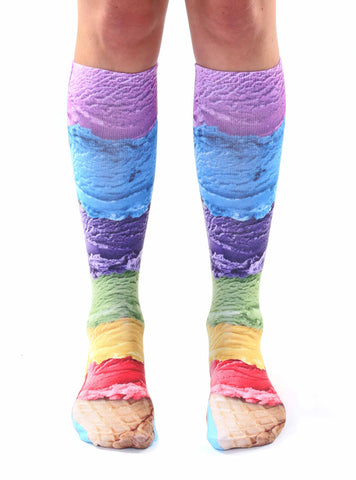 Ice Cream Knee High Socks