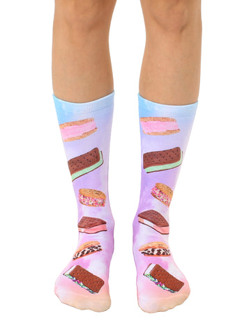 Ice Cream Sandwiches Crew Socks