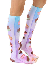 Ice Cream Sandwiches Knee High Socks