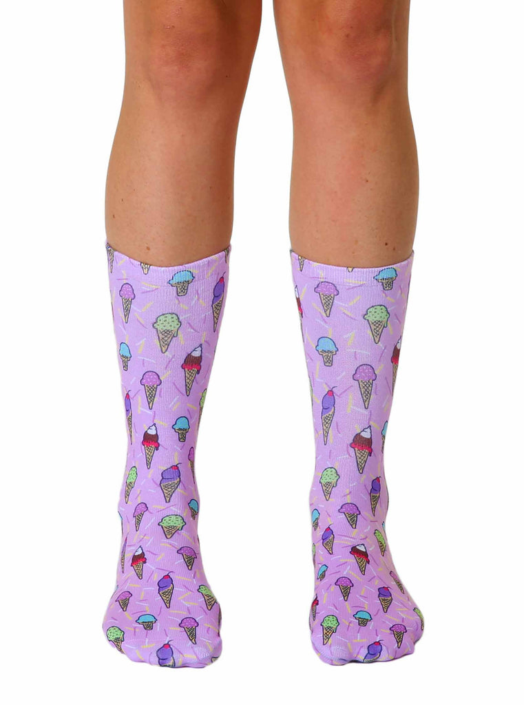 Ice Cream and Sprinkles Crew Socks