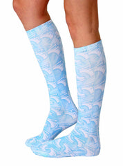 Ice Skate Knee High Socks