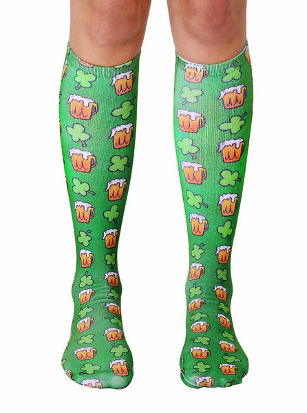 Irish Beer Knee High Socks