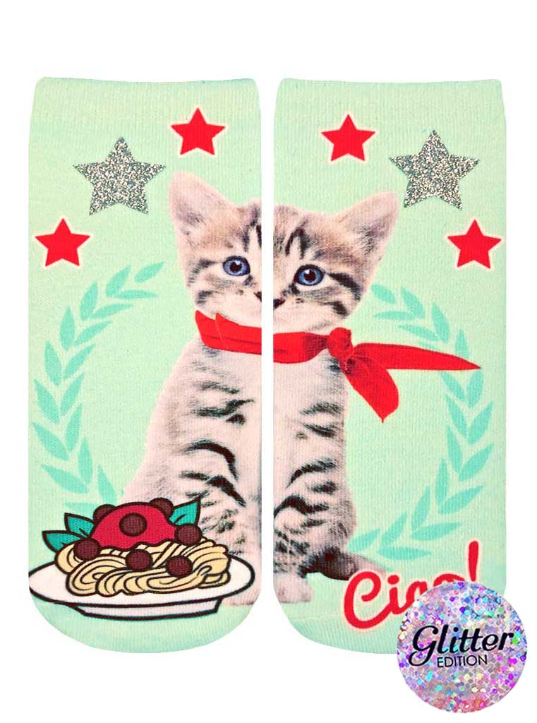 Italian Cat Ankle Socks