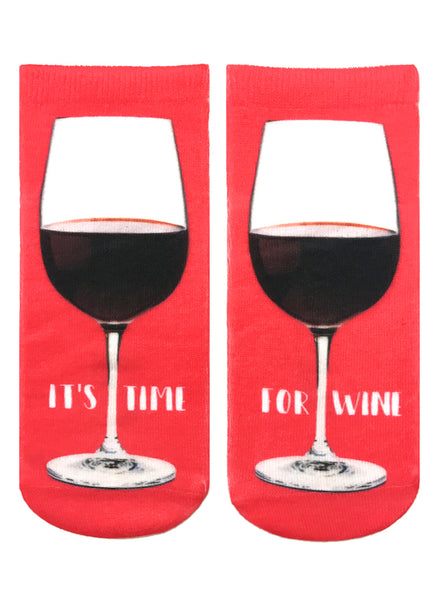 It's Time For Wine Ankle Socks