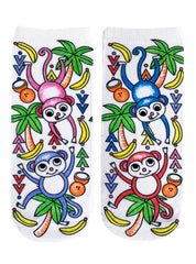 Color-In Socks Monkey Craze