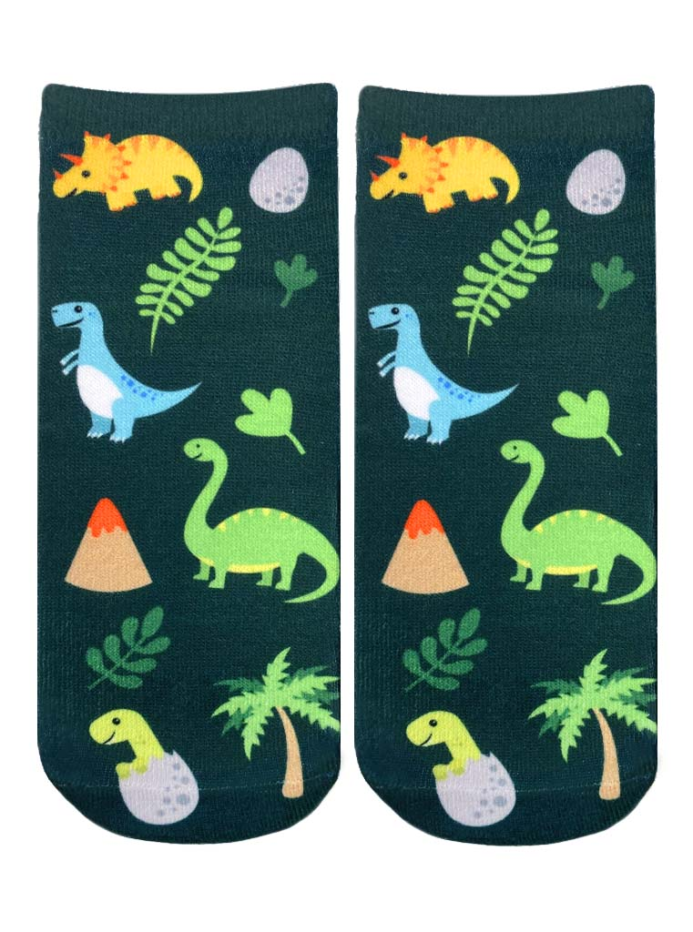 Jurassic Jungle Ankle Socks