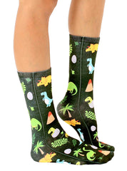 Jurassic Jungle Crew Socks