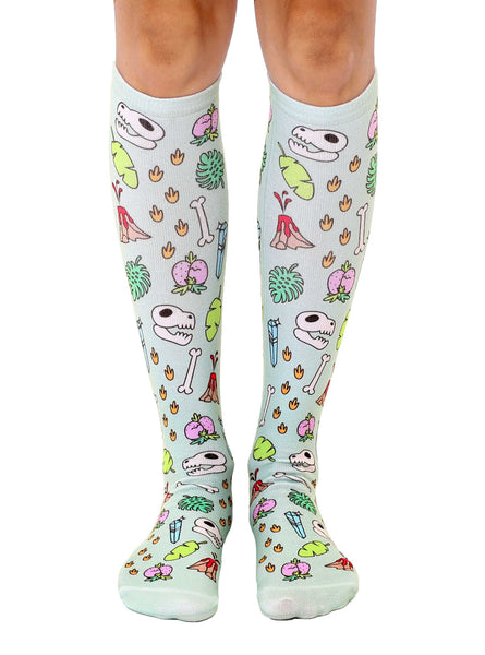Jurassic Knee High Socks