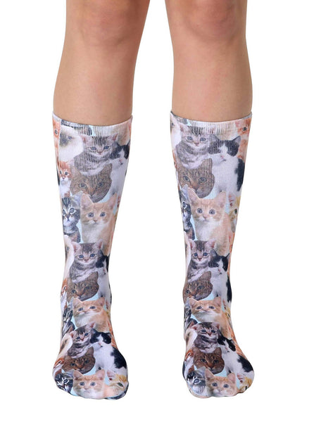 Kitty All Over Crew Socks