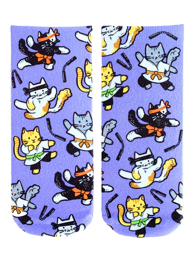 Karate Cats Ankle Socks