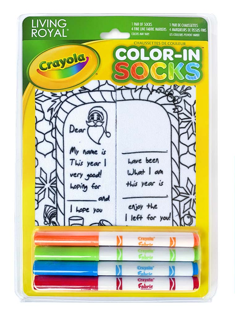 Color-In Socks Letter To Santa