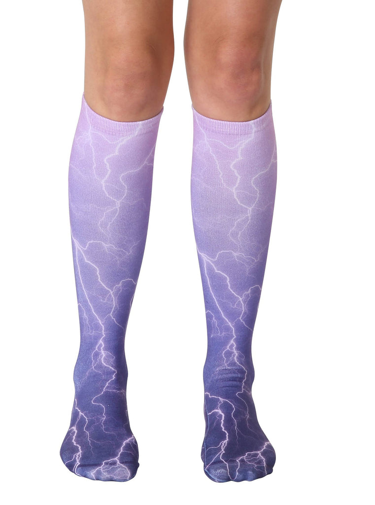 Lightning Knee High Socks