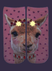 Girly Llama Ankle Socks