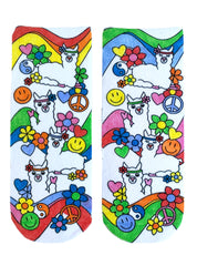 Color-In Socks Peace Out Llama