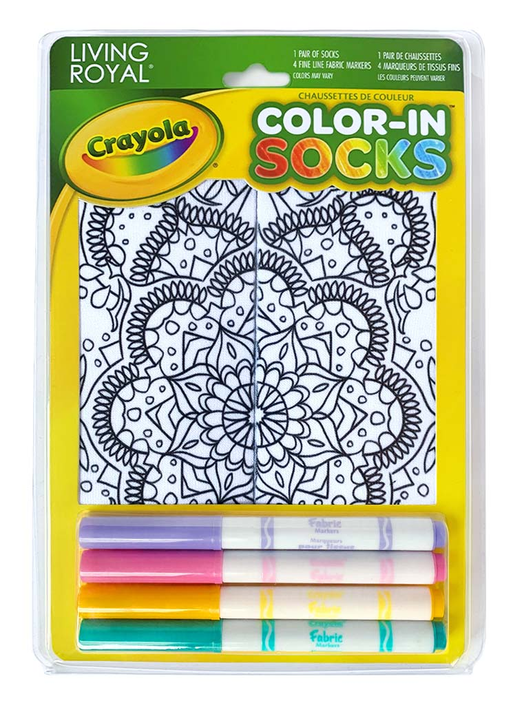 Color-In Socks Mandala