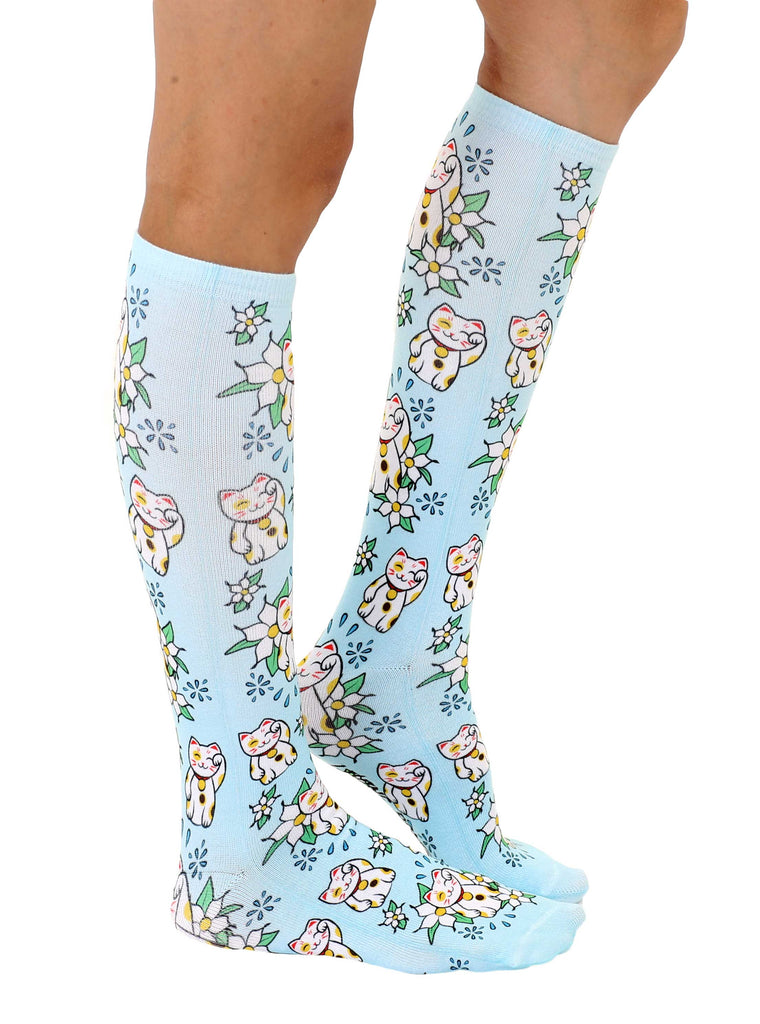 Maneki Neko Knee High Socks