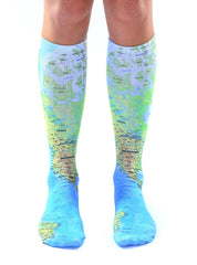 Map Knee High Socks