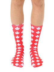 Maple Leaf Crew Socks