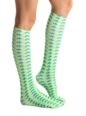 Mean Green Knee High Socks