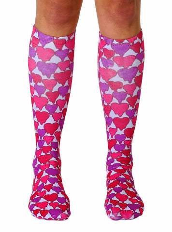 Melting Hearts Knee High Socks