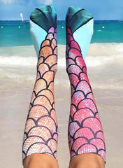 Mermaid Knee High Socks