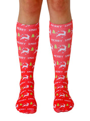 Merry XMAS Knee High Socks