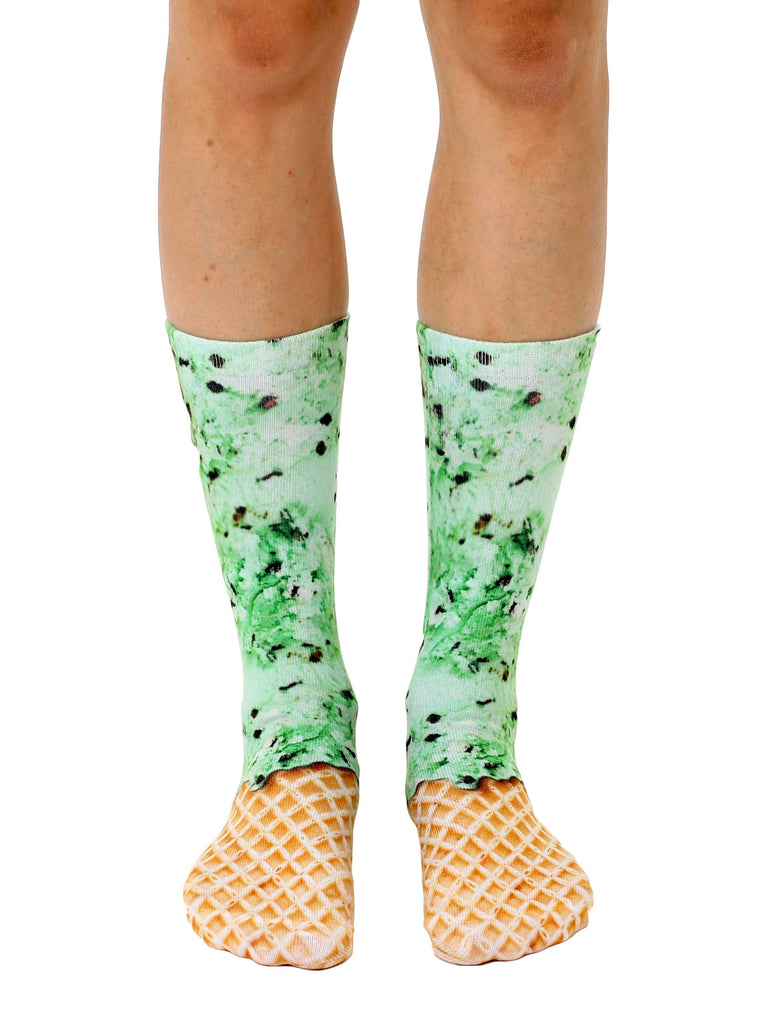 Mint Chocolate Chip Crew Socks