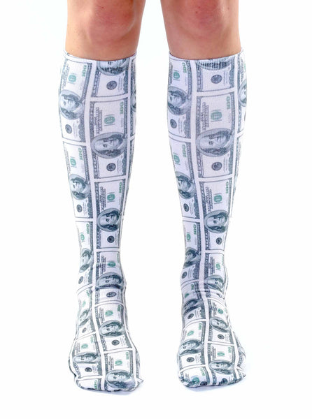 Money Knee High Socks
