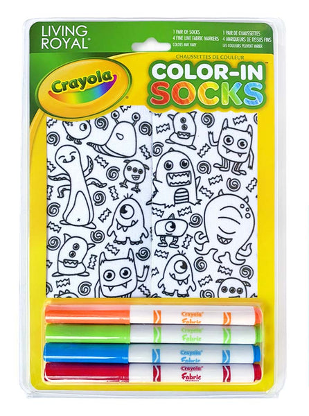Color-In Socks Monster Party