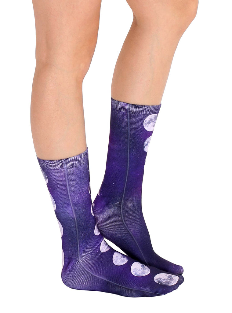 Moon Phases Crew Socks