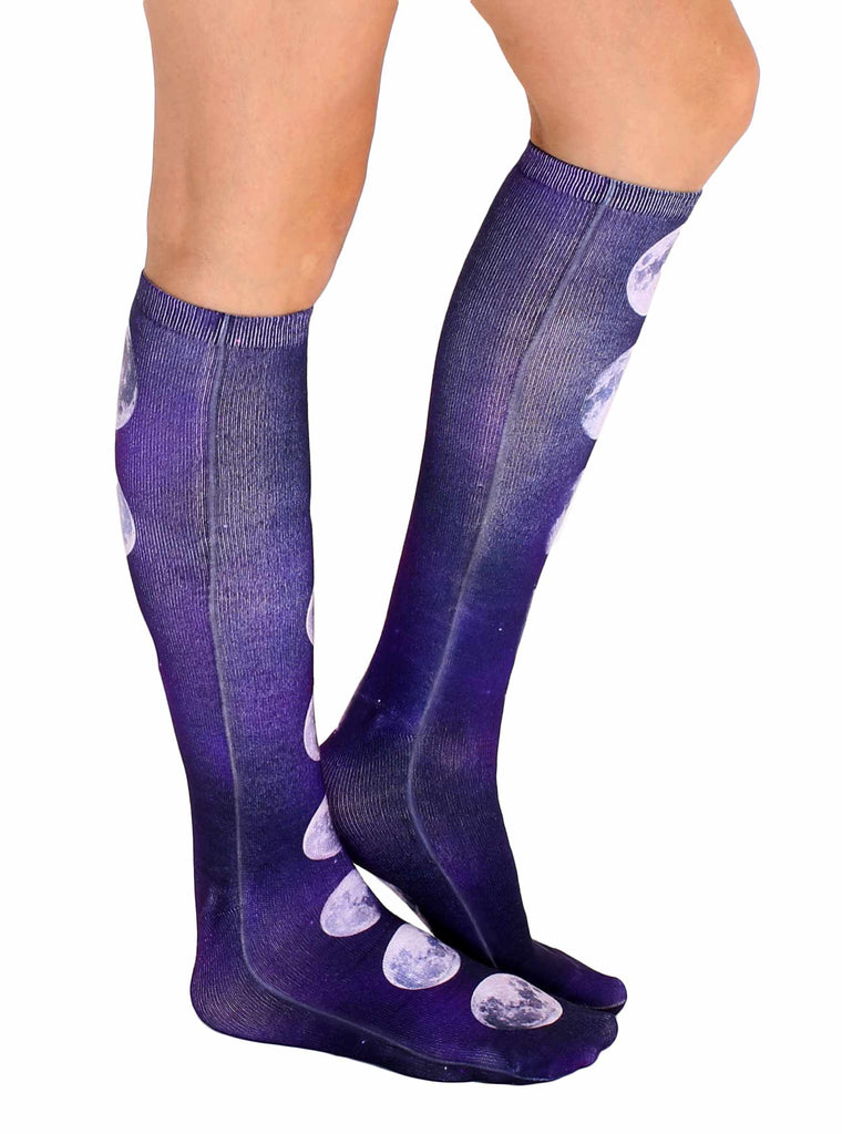 Moon Phases Knee High Socks