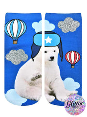 Moscow Polar Bear Ankle Socks