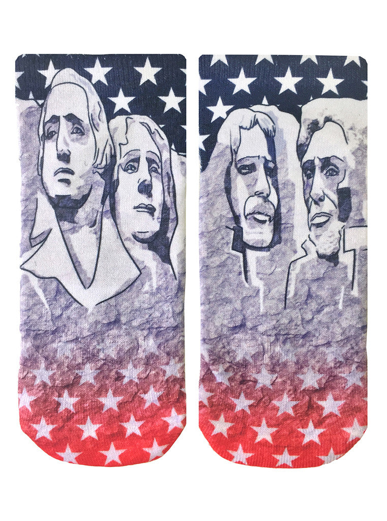 Mt. Rushmore Ankle Socks