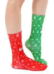 Naughty And Nice Crew Socks
